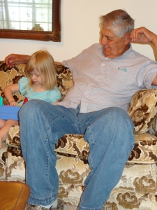 Grandpa with his great-grand daughter