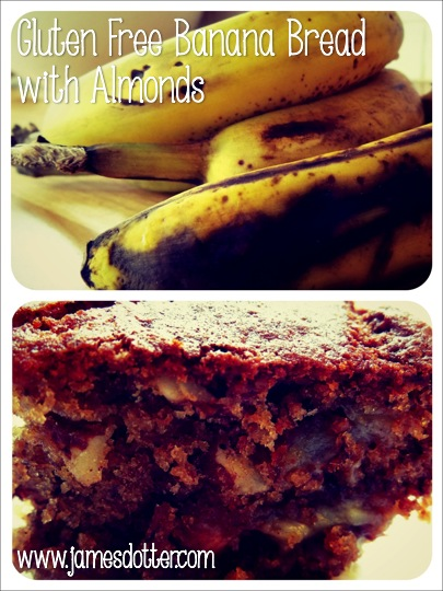 GLUTEN FREE BANANA BREAD WITH ALMONDS, www.jamesdotter.com