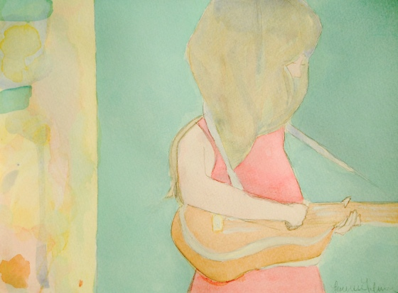 """Girl with Ukulele"" by Lauren"