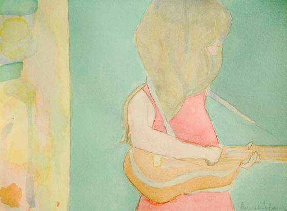 """""""Girl with Ukulele"""" by Lauren"""